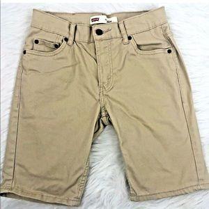 LEVIS 511 Slim Boys Shorts Khaki 14 Reg 27 Waist